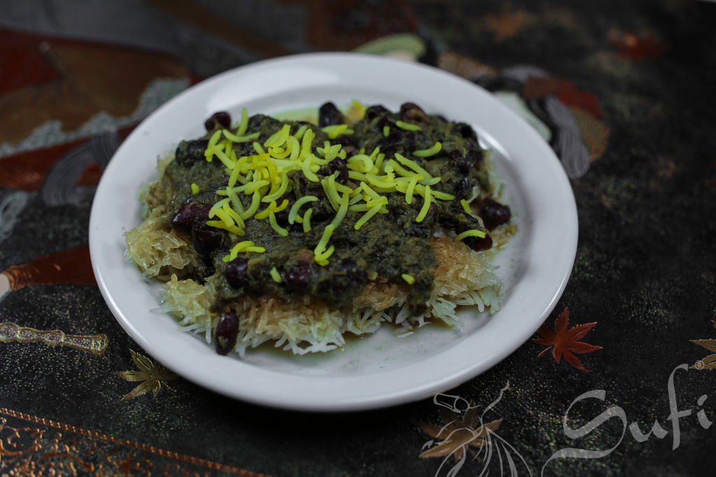 Rice Crust with Ghorme